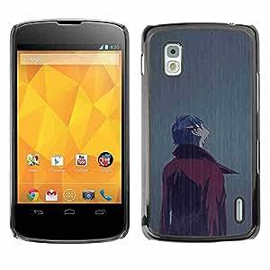 Shell-Star ( Man In Rain ) Fundas Cover Cubre Hard Case Cover para LG Google NEXUS 4 / Mako / E960