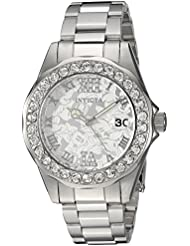Invicta Womens Disney Limited Edition Quartz Stainless Steel Casual Watch, Color:Silver-Toned (Model: 22869)