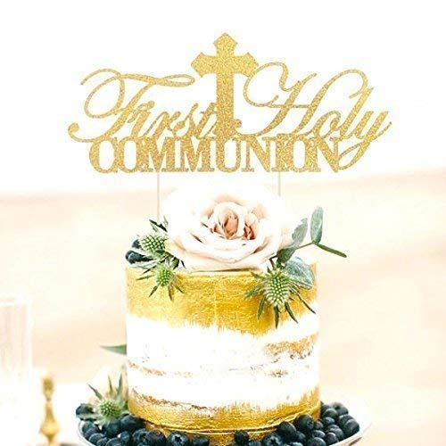 First Holy Communion Cake Topper, First Communion Cake Topper, First Communion Cake, Religious Cake Decoration, First Communion Centerpieces ()