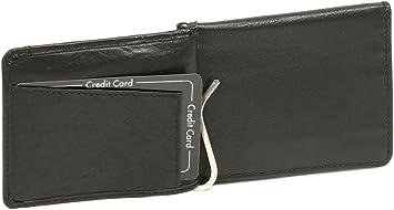 Dollar Clip Money Clip mit Kleingeldfach LEAS Echt-Leder Scheinklammer schwarz