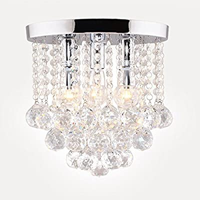 Surpars house crystal chandelier 3 lights 11 w 10 h silver surpars house crystal chandelier 3 lights 11 w 10 h silver amazon aloadofball Choice Image