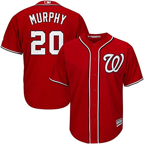 (Majestic Daniel Murphy Washington Nationals MLB Youth Red Alternate Cool Base Replica Jersey (Youth Medium 10-12))