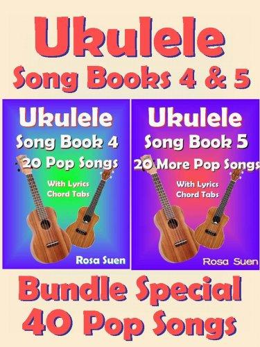 Amazon Ukulele Song Book 4 5 40 Popular Songs With Lyrics