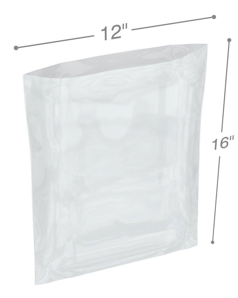 Interplas PB61216 6 Mil Poly Bags, LDPE, 16'' Height, 12'' Width (Case of 500)