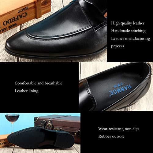 Size Scarpe Comodo Scarpe Business Nuovo 11 Uomo Scarpe Brown Appuntito Da Sposa Moda In Respirabile Pelle UK Business Autunno Da Scarpe Uomo Vestito 5 Scarpe A7187znw