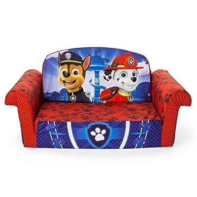 Marshmallow Furniture, Children's 2 in 1 Flip Open Foam Sofa, Nickelodeon Paw Patrol