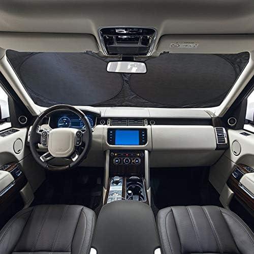 f/ür SUV LKW blockiert UV-Strahlen faltbar und tragbar silberfarben 6-teiliger Sonnenschutz f/ürs Auto