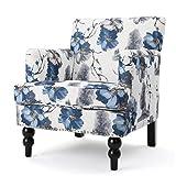 Manon Floral Print Fabric Club Chair