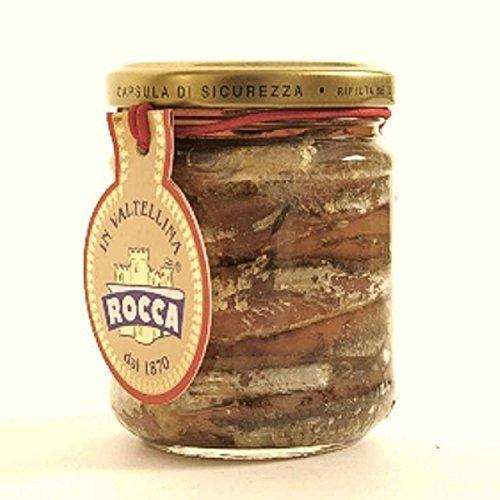 Sardellen ganz mit Salz 212 ml. - Rocca