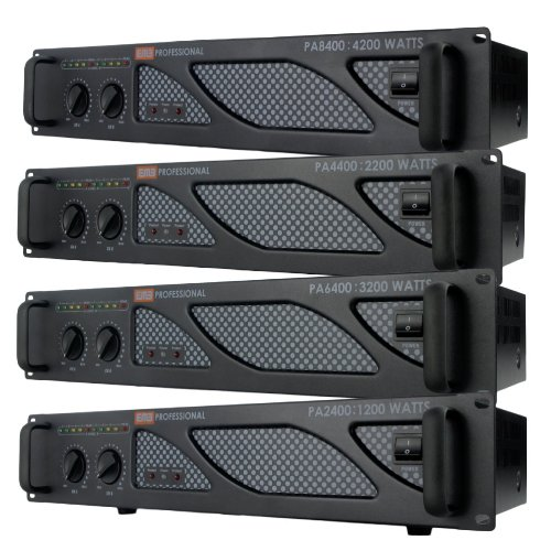 EMB Pro - PA6400 - Rack Mount Professional Power Amplifier - 3200 Watts PA Band Club by EMB