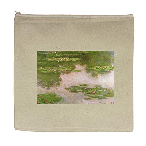 de040cf72 hot sale Sea Roses2 (Monet) Canvas Zipper Tote Bag Makeup Bag ...