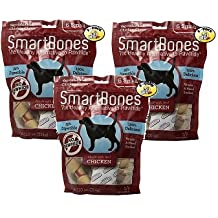 SmartBones Vegetable and Chicken Bones with Real Chicken Medium - 12 Pack