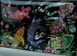 Antique Alive Mother of Pearl Koi Fish Engraved