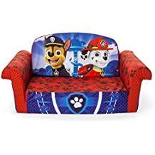Marshmallow Furniture Children's 2 in 1 Flip Open Foam, Nickelodeon Paw Patrol Sofa Chair Furniture