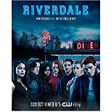 #9: K.J. Apa 8 inch x 10 inch PHOTOGRAPH Riverdale (TV Series 2017 - ) w/Cast Outside Diner Title Poster #2 kn