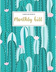 Monthly Bill Planner And Organizer: monthly budget planner cactus | 3 Year Calendar 2020-2022 Budget Planner | Weekly Expense Tracker Bill Organizer ... mom aunt (Financial Planner Budget Book)