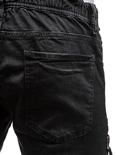 BOLF Hombre Jeans Pantalones Deportivos Muy Cómodo Prácticos Bolsillos 6F6 Motivo Negro