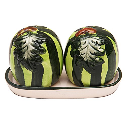 E'loisa Ceramic Watermelon Salt and Pepper set