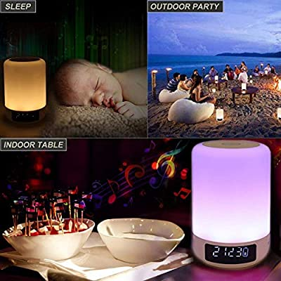 YSD Bedside Lamp with Bluetooth Speaker, Touch Sensor Table