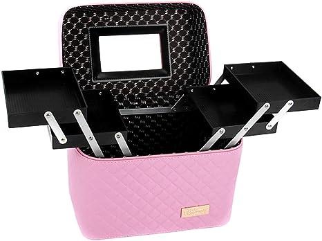 SXSHYUCO Neceser Maquillaje para Mujer Profesional Estuche Bolso de Maquillaje Bolsa de Cosméticos Organizador Portátil Funda de Viaje para Cosméticos Joyería/Labial, Pink: Amazon.es: Deportes y aire libre