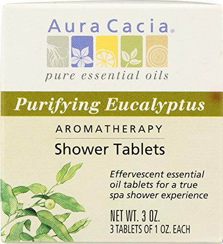 - Aura Cacia (NOT A CASE) Aromatherapy Shower Tablets Purifying Eucalyptus 3 Tablets (1 oz Each)