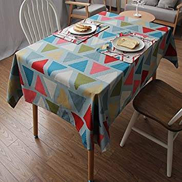 Amazing MEICHEN Cotton Geometric Pattern Coffee Table Table Cloth Tablecloth, Triangle,Mat 4040