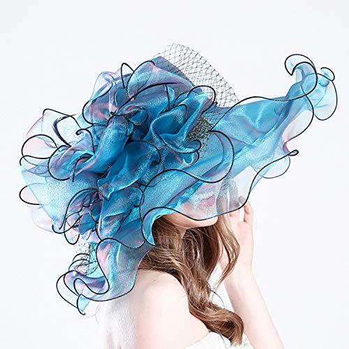 YANGLAN Big Hat, Creative Summer Hat, UV Protection Organza Fashion Mesh Hat, Women's Sun Hat