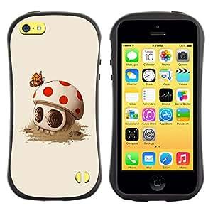 Suave TPU GEL Carcasa Funda Silicona Blando Estuche Caso de protección (para) Apple Iphone 5C / CECELL Phone case / / Mushroom Skull Cute Butterfly Death /