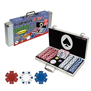 Trademark Poker Maverick 300 Dice Style Poker Chip Set