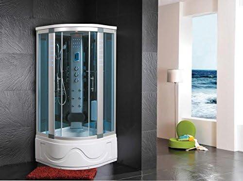 Cabina de ducha hidromasaje Sauna Baño Turco 105 x 105: Amazon.es ...