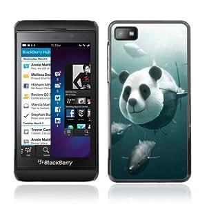 YOYOSHOP [Funny Panda Tuna Illustration] Blackberry Z10 Case