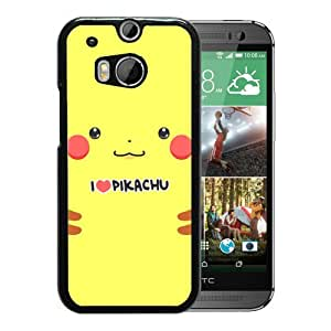 HTC ONE M8 Pokemon Popular Cute and Funny Pikachu 09 Black Screen Phone Case Melting and Sweet Style