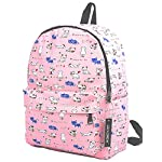 """Lily & Drew Lightweight Travel Backpack for Women and Teens 16 MEDIUM size 15-inch backpack. Please note there are two sizes: small and medium. This medium-sized backpack is 15.5"""" tall x 11.5"""" wide x 6.3"""" deep. Binders, folders and laptop computers will fit. See pictures and description for reference and further details. POCKETS. Two side pockets for water bottles, sun-glasses, etc. Front zippered pocket for small items such as pens, phone, etc. Large main compartment with heavy-duty double zippers for big items such as laptop, binder, books, notebook, folder, and more. PERFECT for laptop. Convenient internal sleeve is ideal for a 14-inch laptop computer, tablet or iPad. Perfect fit for MacBook, MacBook Air or MacBook Pro 13-inch. Maximum laptop size is about 13-1/2"""" x 10"""" x 1"""" thick."""
