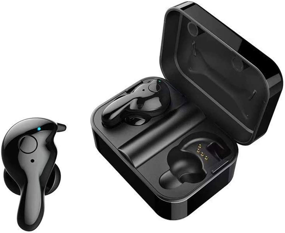 Wireless Earbuds 5.0 Bluetooth Earbuds with Microphone, HiFi Stereo Earphones with Charging Case, Sport Running Earbuds Compatible with Apple iPhone, Samsung, Sony, Android, up to 15 Hours Playtime