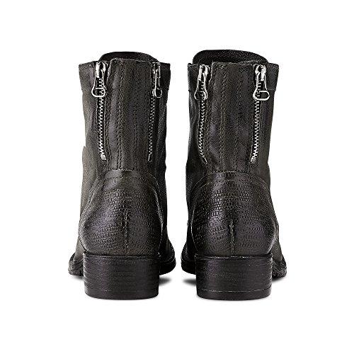 Cox Damen Schnür-Stiefelette Grau Leder 38