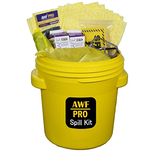20 Gallon Battery Acid Spill Kit DOT Overpack Drum, 4 lb Acid Neutralizer, 40 Pads 15