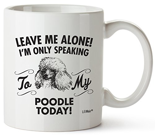 Poodle Mom Gifts Mug For Women Men Dad Decor Lover Decorations Stuff I Love Poodles Coffee Merchandise Accessories Talking Art Apparel Funny Birthday Gift Home Supplies Products Dog Coffee Cup (Poodle Travel Mug)