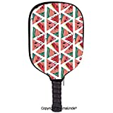 SCOXIXI 3D Pickleball Paddle Racket Cover Case,Oil Painting Style Colorful Summer Garden with Flowers Greenery Forest ArtCustomized Racket Cover with Multi-Colored,Sports Accessories