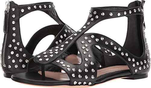 Alexander-McQueen-Womens-Caged-Flat-Sandal-With-Hammered-Studs