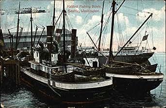Halibut fishing boats seattle washington original vintage for Halibut fishing seattle