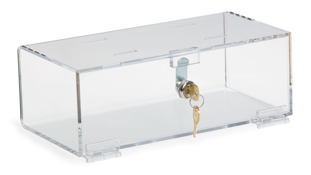 Clearform ML4616 Clear Acrylic Single Lock Medical Box with Keys, Medium