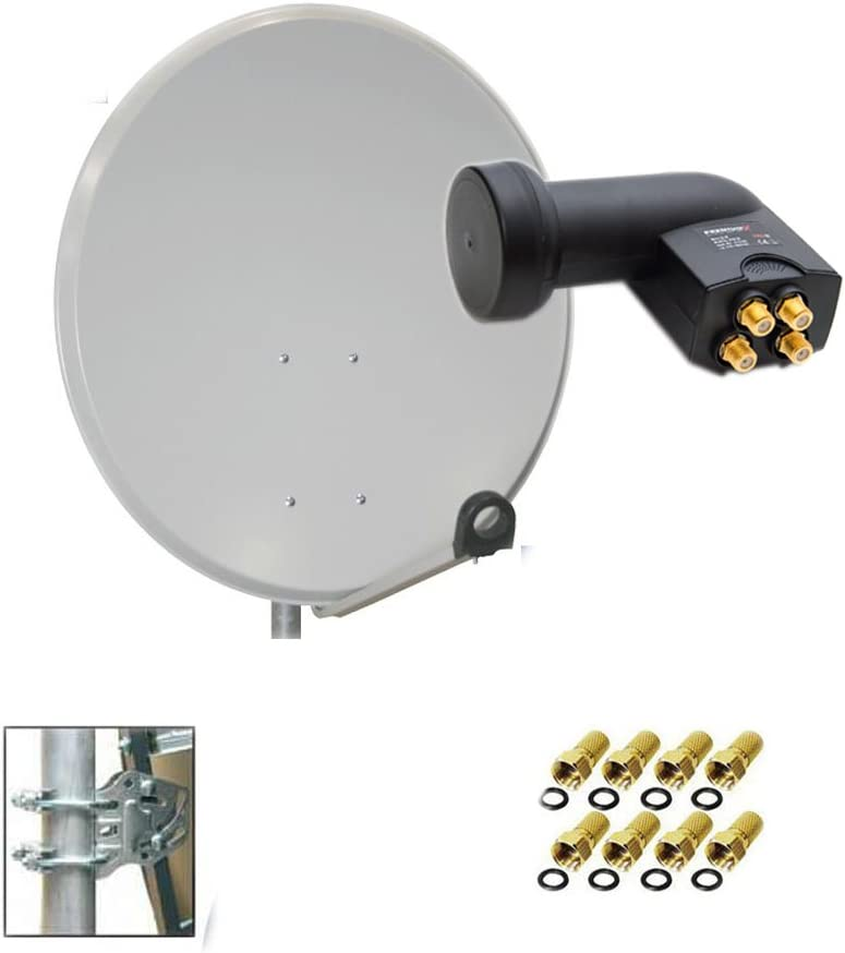 PremiumX PXA60 – Antena parabólica HD (aluminio HDTV satélite ...