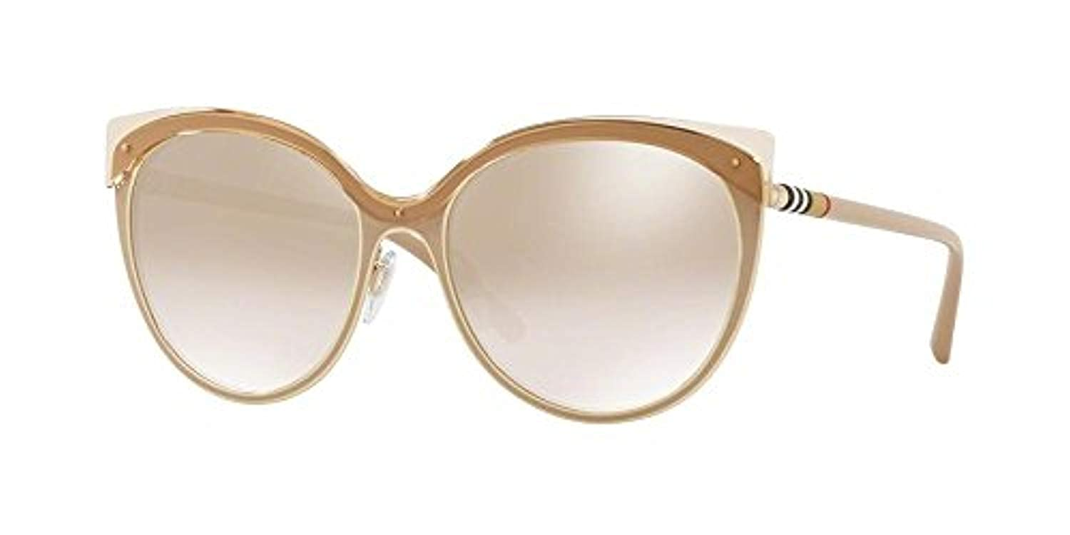 933ee86f329 Amazon.com  Burberry Women s 0BE3096 Beige Light Gold Brown Mirror Gradient  One Size  Clothing