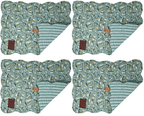 Quilted Cloth Placemats - 4