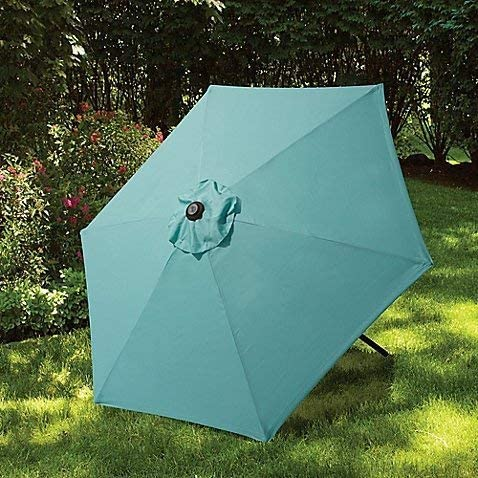 Outdoor Patio Umbrella Canopy Aqua Blue 7.5