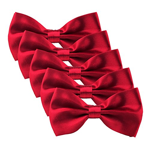 HDE Wedding 5 Pack Adjustable Neckties