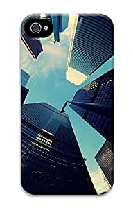 iPhone 4 4S Case Big City Skyscrapers 3D Custom iPhone 4 4S Case Cover