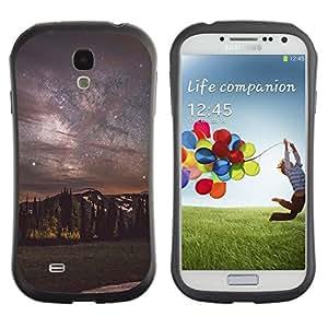 "Hypernova Slim Fit Dual Barniz Protector Caso Case Funda Para SAMSUNG Galaxy S4 IV / i9500 / i9515 / i9505G / SGH-i337 [Milky Way cielo nocturno Montañas""]"