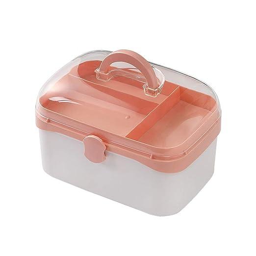 Botiquín de Primeros Auxilios Estuche de Primeros Auxilios Caja de Medicina Medicina del hogar Caja de Almacenamiento Caja médica Dormitorio Pequeño ZHAOSHUNLI (Color : Pink, Size : M): Amazon.es: Hogar