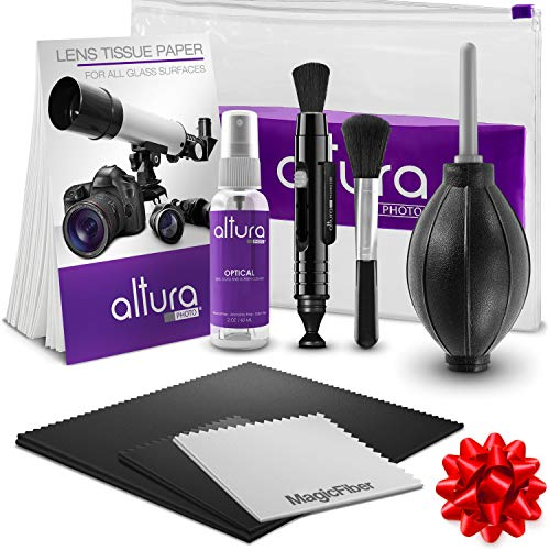 Lens Kit Optic Cleaning (Altura Photo Professional Cleaning Kit for DSLR Cameras and Sensitive Electronics Bundle with 2oz Altura Photo Spray Lens and LCD Cleaner)
